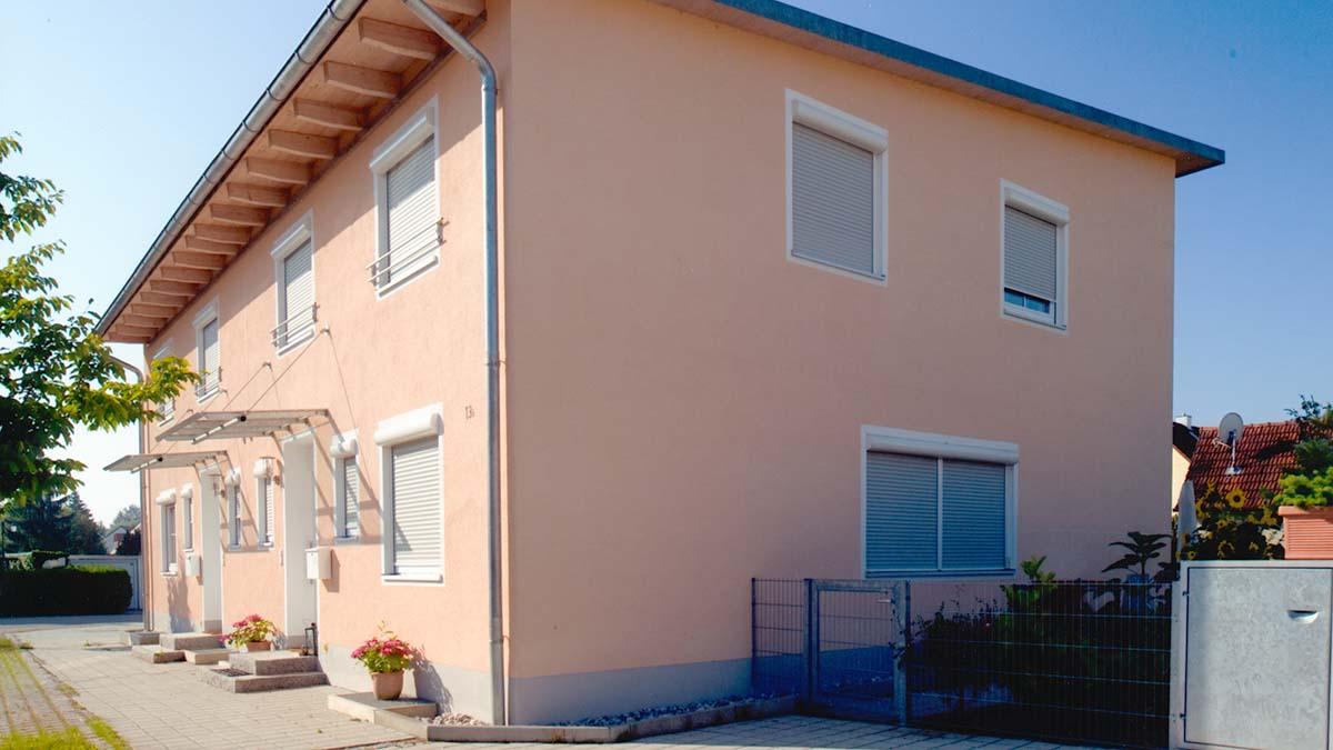Doppelhaus mit Pultdach